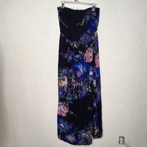 Xhilaration Tube Top Floral Dress Size XL